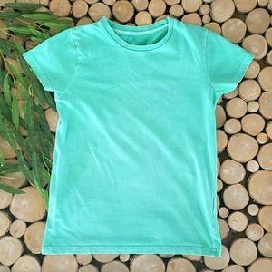 Mini Boden Solid Cotton Short Sleeve Tee Shirt
